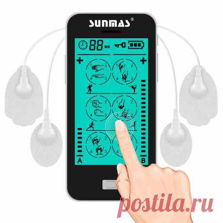 Sunmas Touch Screen 24 Mode 8 Pads 2 Channel Pulse Therapy Guangzhou Medical Apparatus And Instruments
