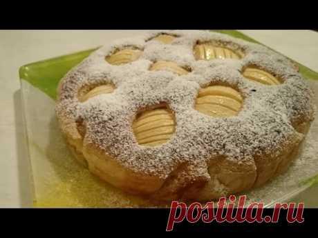 Шарлотка с яблоками рецепт Секрета приготовления вкусного блюда на десерт - YouTube