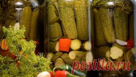 ЗАГОТОВКА ОГУРЦОВ НА ЗИМУ: Очень вкусный рецепт Маринованных огурцов.