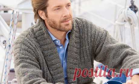 Схемы вязания свитеров спицами для мужчин из мохера с описанием - Verena.ru