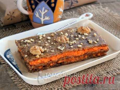 Торт из моркови без выпечки — рецепт с фото