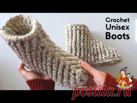 Crochet Beginner Boots / Slippers For Men And Women