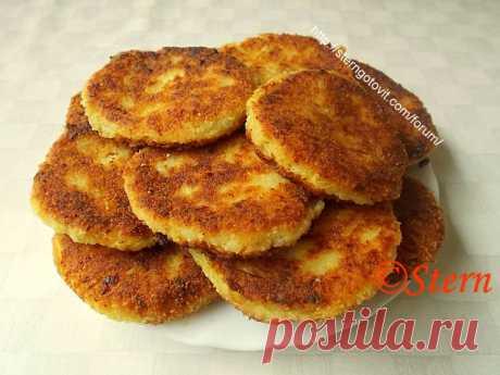 Кабачковые котлеты с картошкой и сыром
