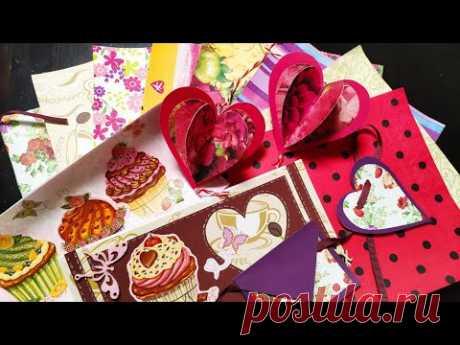 ⭐ Дизайнерский картон из салфеток 💖 2 простые гирлянды ко Дню святого Валентина 🎁 Итоги розыгрыша