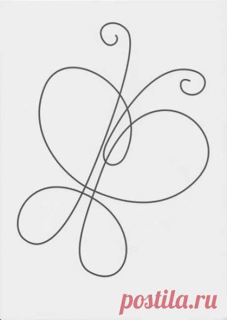 Легкие для повторения рисунки без отрыва руки — Сделай сам, идеи для творчества - DIY Ideas