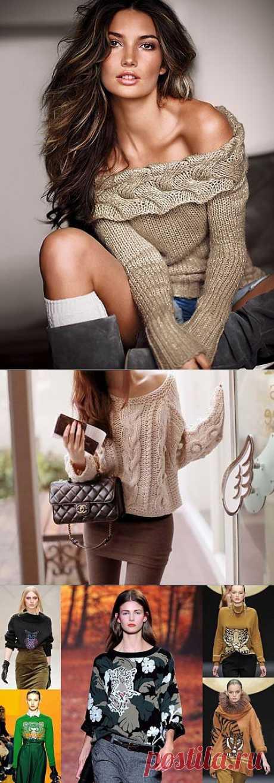 Женские свитера: для тепла и хорошего настроения.