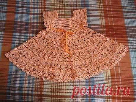 Нежное летнее платье для девочки из категории Интересные идеи – Вязаные идеи, идеи для вязания