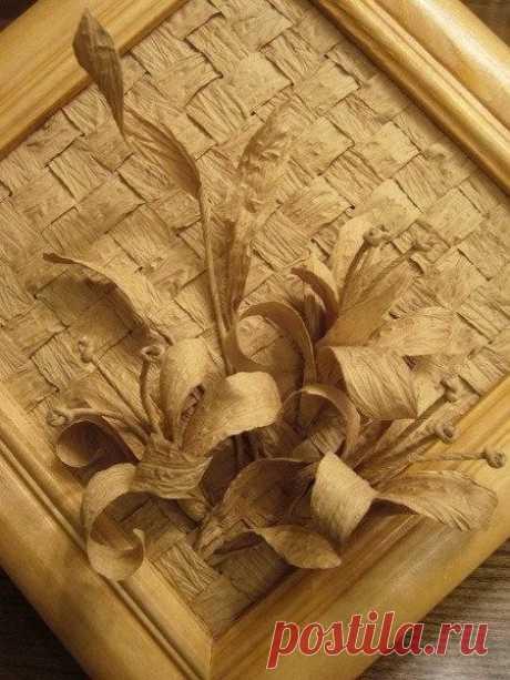 Панно из бумажной бечёвки или шпагата