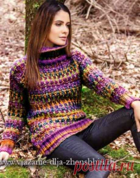 Вязаный свитер спицами для женщин - схемы вязания свитера с описанием