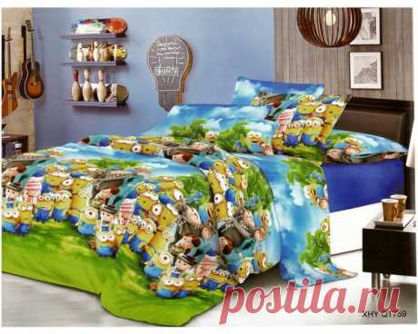 купить комплект постельного белья Слим-сатин QT759 простыня 150х210, пододеяльник 147х210, наволочка 70х70- 2шт