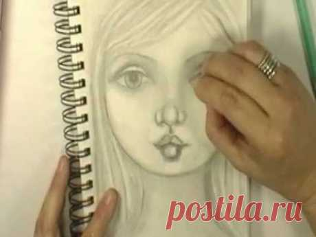 Drawing a face with Cristina Zinnia Galliher ~*~Roses On My Table~*~