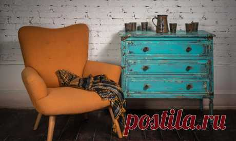 Состаривание мебели: техники окрашивания