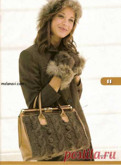 Вяжем сумку спицами | Вяжем с Лана Ви