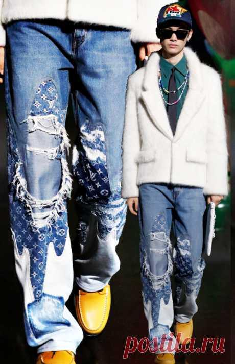 Идея переделки джинсов Модная одежда и дизайн интерьера своими руками