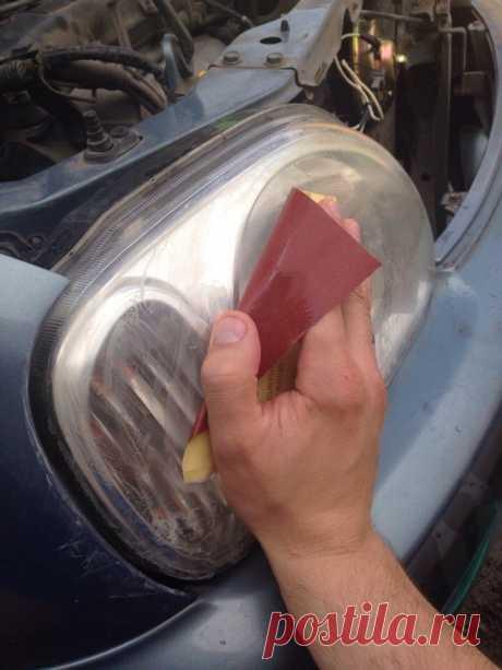 Как отшлифовать фары автомобиля в домашних условиях своими руками + видео » АвтоНоватор