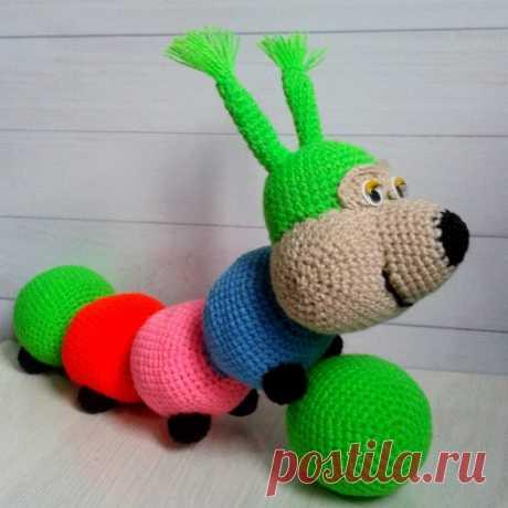 Яркая красивая гусеничка!!! 100% #ручнаяработа В наличии.  #игрушкиhandmade #handmade #игрушки #weamiguru #детям #Алматы