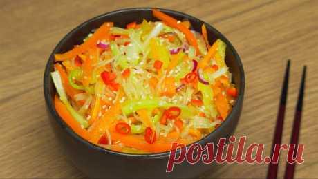 Фунчоза со свежими овощами по-корейски рецепт с фото пошагово и видео - 1000.menu