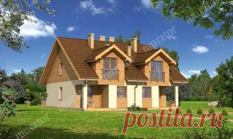 El proyecto de la casa БЦЦ203а Magro - variante I (doma-mellizos) - proekty-muratordom.com