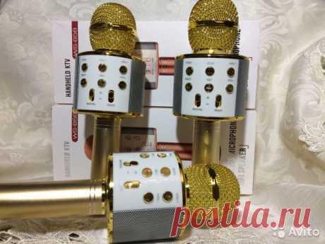 Микрофон-Караоке WS 858, самая топовая модель купить в Ставропольском крае на Avito — Объявления на сайте Авито