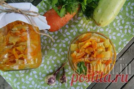 Салат из кабачков с морковью и луком   8 Ложек