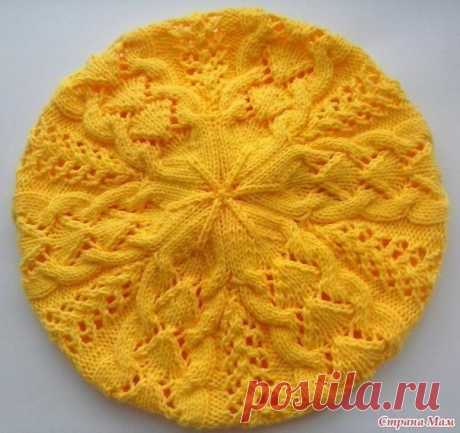 OPENWORK BERET (Knitting by spokes) — the Inspiration of the Needlewoman Magazine