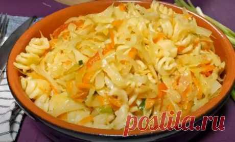 Гарнир из капусты с макаронами - Вкусные рецепты - медиаплатформа МирТесен
