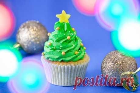 Кексы Новогодняя елка - Рецепты. Кулинарные рецепты блюд с фото - рецепты салатов, первые и вторые блюда, рецепты выпечки, десерты и закуски - IVONA - bigmir)net - IVONA bigmir)net