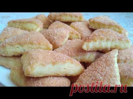 ПРИГОТОВЯТ ДАЖЕ ДЕТИ Вкусное ПЕЧЕНЬЕ НА КЕФИРЕ 🥛😋// Tasty kefir cookies