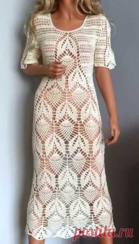 #вязание #вязаниекрючком #вязаниеспицами платье крючком