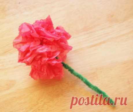 Как делать цветы из салфеток. | ИЗ БУМАГИ СВОИМИ РУКАМИ