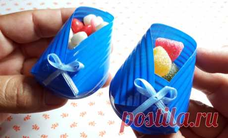 """Gift packing """"Пинетки"""" from a lastikovy glass"""