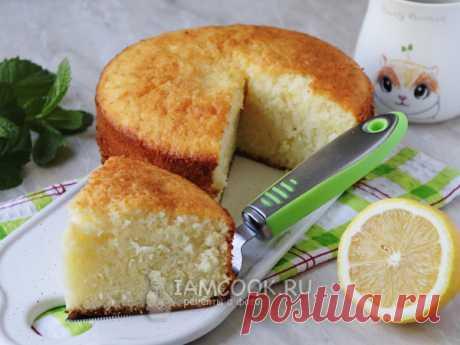 """Итальянский пирог """"12 ложек"""" - бисквит, которому нет равных: нежный, легкий как облако, с лимонным ароматом"""