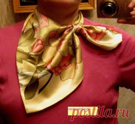 Выкройка шарфика