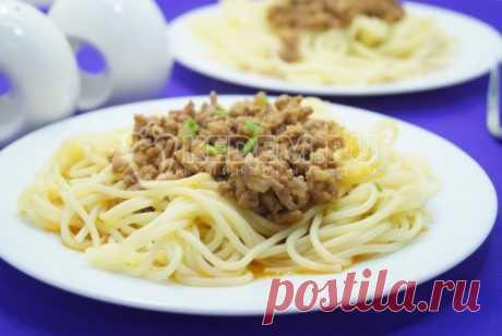 Спагетти с фаршем - рецепты с фото, как приготовить спагетти с фаршем
