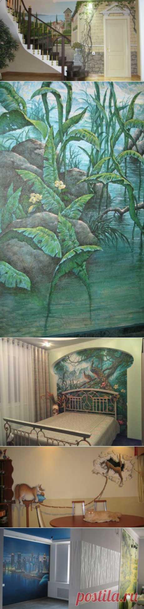 (+1) тема - Интерьерные росписи художника-дизайнера Владимира Кузнецова | Школа Ремонта