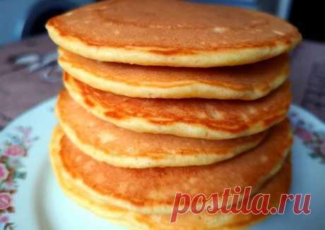 Пышные панкейки на кислом молоке (кефире) - пошаговый рецепт с фото. Автор рецепта Эка . - Cookpad