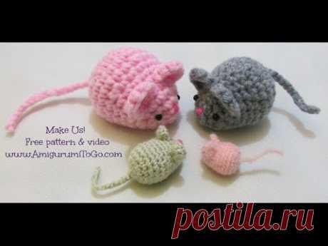Вдоль вязания Amigurumi Mouse