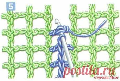 Соединение деталей, выполненных филейной сеткой - Филейное кружево - Страна Мам