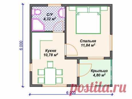 """Каркасный дом одноэтажный V420 """"Инглвуд"""" – заказать строительство   Вигвам.Ру"""