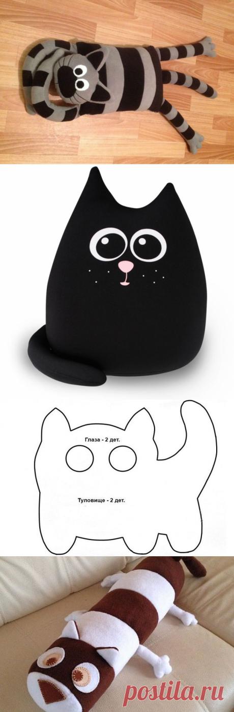 Подушка кошка шитье. Подушка-кот: выкройка и технология изготовления. Крутые подушки в виде кошачьих мордочек