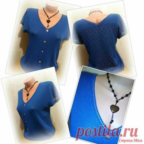 . La blusa (patrón) simple - la labor de punto De máquina - el País de las Mamás