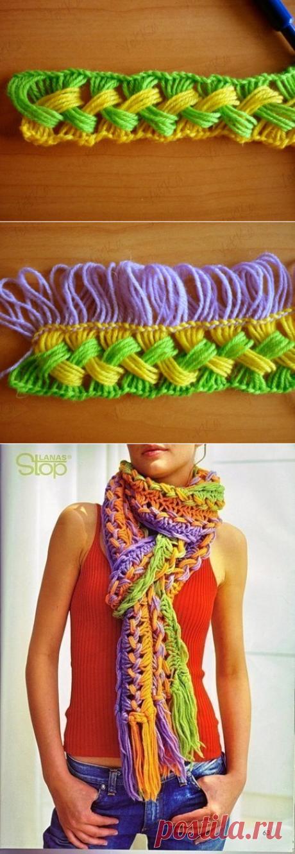 Очень интересный шарфик
