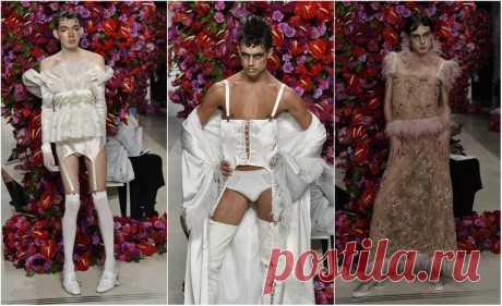 Я думала что в мужской моде уже видела ВСЁ!) Ан нет! Что-то меня реально пробило на ржач, глядя на ЭТО! Показ испанского дизайнера на неделе мужской моды в нью-йорке   Испанский дизайнер Palomo представил свою коллекцию мужской одежды на Нью-Йоркской Неделе моды. Видимо именно так, по мнению испанского …
