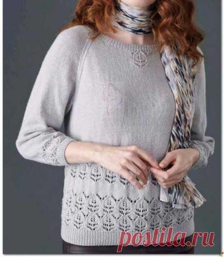 Узор спицами для нежного пуловера