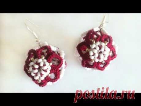 Balls frivolit earrings a needle, ankars you frivolit a master class. Earrings Balls frivoliet needle ankars - YouTube