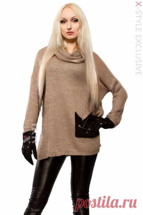 Свитер женский оверсайз X1225 Свитер женский оверсайз X1225, арт. 111225 - выбирайте в интернет-магазине Xstyle. Широкий ассортимент и различные размеры. Лучшие цены и быстрая доставка по Киеву и Украине.