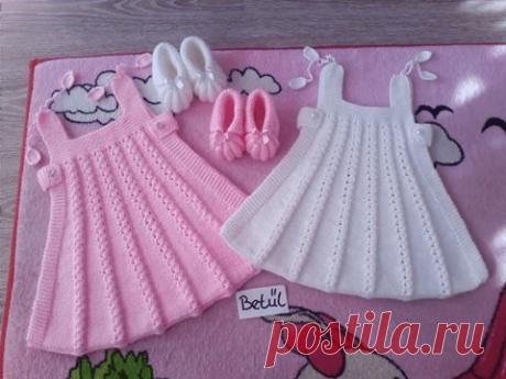 Сарафанчик для девочки с ажурными полосками (Вязание спицами) – Журнал Вдохновение Рукодельницы
