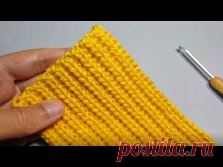 КАК СПИЦАМИ! Супер классная РЕЗИНКА КРЮЧКОМ! How to Crochet Ribbing