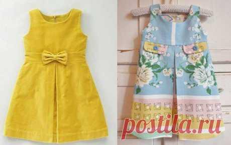 Выкройка детского сарафана Модная одежда и дизайн интерьера своими руками
