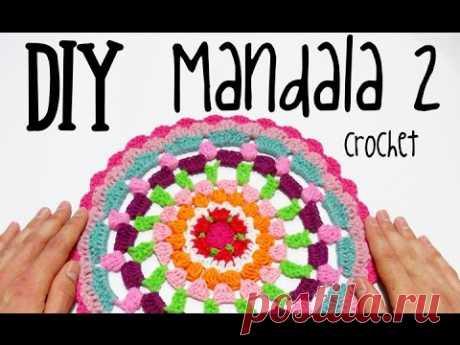 DIY Mandala 2 crochet/ganchillo (tutorial)